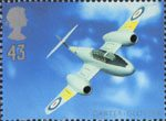 Architects of the Air 43p Stamp (1997) George Carter and Gloster Meteor T Mk7