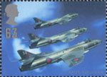Architects of the Air 63p Stamp (1997) Sir Sidney Camm and Hawker Hunter FGA Mk9