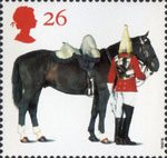 All The Queens Horses 26p Stamp (1997) Lifeguards Horse and Trooper