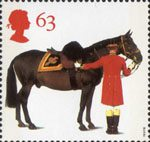 All The Queens Horses 63p Stamp (1997) Duke of Edinburgh's Horse and Groom