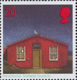 Post Offices 20p Stamp (1997) Haroldswick, Shetland