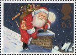 Christmas Crackers, Christmas 1997 63p Stamp (1997) Father Christmas and Chimney