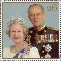 The Golden Wedding Anniversary 1947-1997. Her Majesty the Queen and His Royal Highness the Duke of Edinburgh. 26p Stamp (1997) Queen Elizabeth II and Prince Philip, 1997