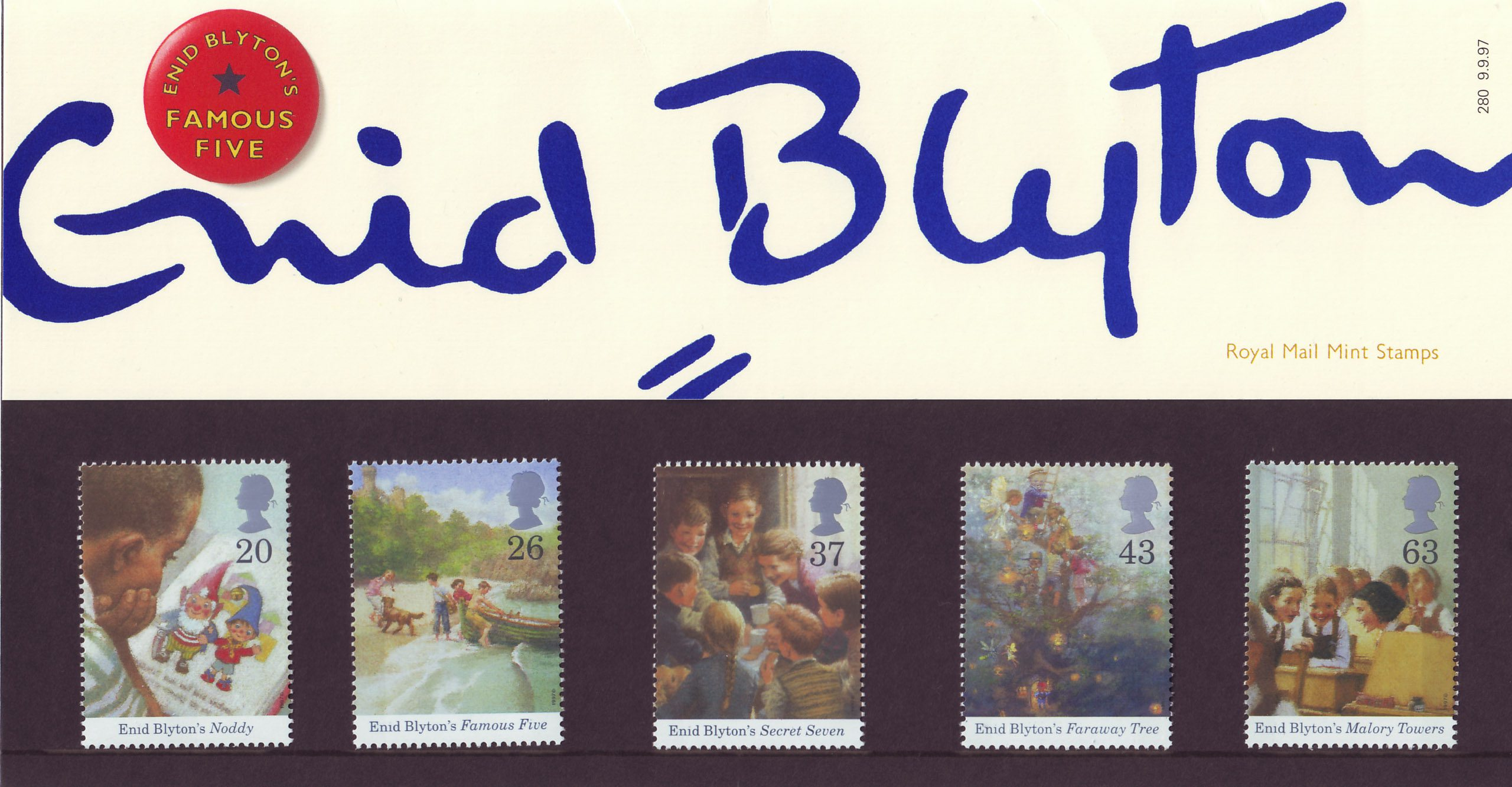 Enid Blyton 1997 Collect Gb Stamps
