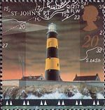 Lighthouses 20p Stamp (1998) St John's Point Lighthouse, County Down