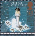Lighthouses 43p Stamp (1998) Bell Rock Lighthouse, Arbroath, mid-19th-century