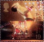 Entertainers Tale 19p Stamp (1999) Freddie Mercury (lead singer of Queen) ('Popular Music')