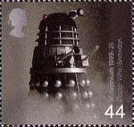 Entertainers Tale 44p Stamp (1999) Dalek from Dr Who (science-fiction series) ('Television')