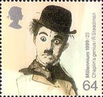 Entertainers Tale 64p Stamp (1999) Charlie Chaplin (film star) ('Cinema')