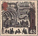 Travellers Tale 43p Stamp (1999) Victorian Railway Station (Growth of public transport)