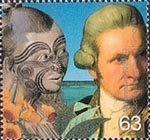 Travellers Tale 63p Stamp (1999) Captain Cook and Maori (Captain Cook's voyages)