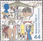 Citizens Tale 44p Stamp (1999) Generations of School Children ('Right to Education')
