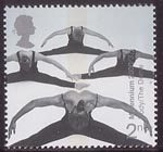Millennium Projects (10th Series). 'Body and Bone' 2nd Stamp (2000) Acrobatic Performers (Milennium Dome)