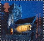 Millennium Projects (11th Series). 'Spirit and Faith' 1st Stamp (2000) Floodlit Church of St.Peter and St. Paul, Overstowey (Church Floodlighting Trust)