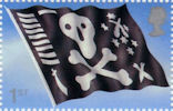 Flags and Ensigns 1st Stamp (2001) Jolly Roger