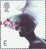 Fabulous Hats E Stamp (2001) Butterfly Hat by Dai Rees