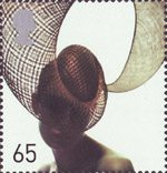 Fabulous Hats 65p Stamp (2001) Spiral Hat by Philip Treacy