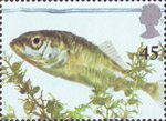 Europa. Pond Life 45p Stamp (2001) Three-spined Stickleback