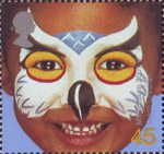 Hopes for the Future 45p Stamp (2001) 'Owl' - Teach Children