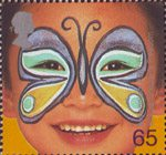 Hopes for the Future 65p Stamp (2001) 'Butterfly' - Ensure Children's Freedom