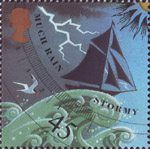 The Weather 45p Stamp (2001) Stormy