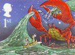 Rudyard Kiplings Just So Stories 1st Stamp (2002) The Crab that played with the Sea