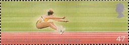 The Friendly Games 47p Stamp (2002) Long Jumping