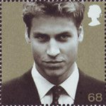 21st Birthday of Prince William of Wales 68p Stamp (2003) Prince William in September 2001 (Tim Graham)