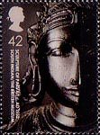 British Museum 42p Stamp (2003) Sculpture of Parvati, South Indian, c. AD1550