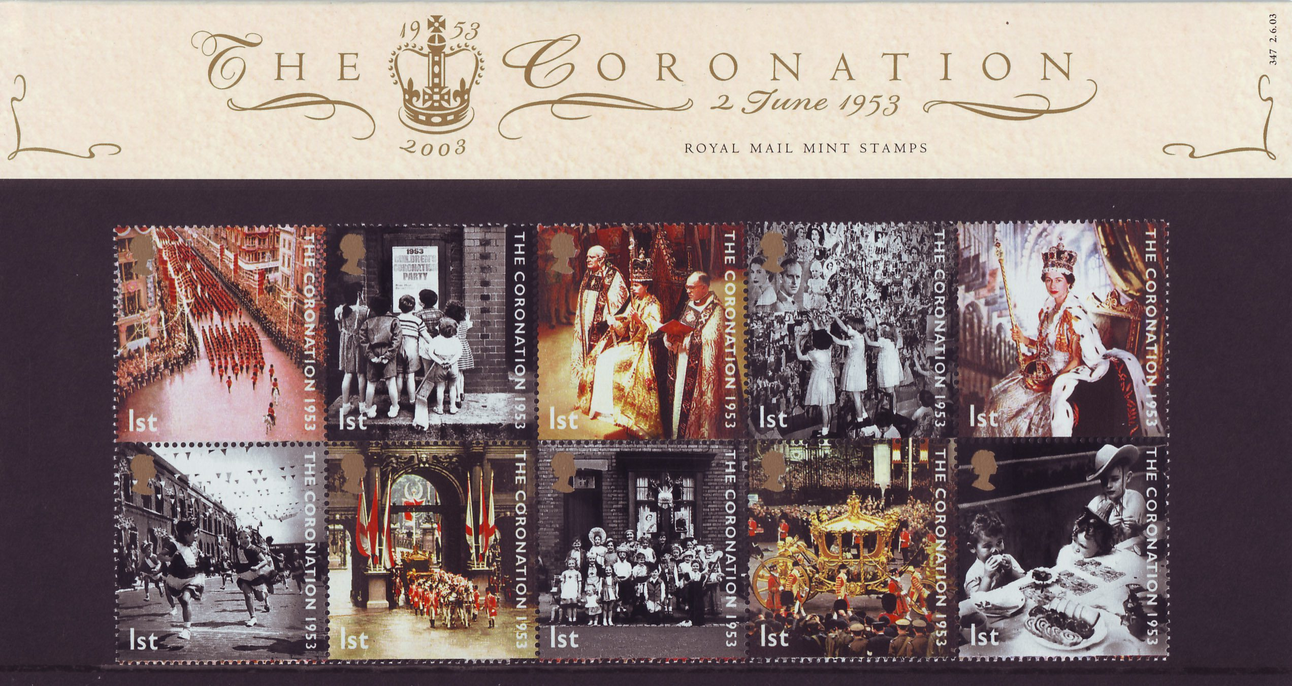 50th Anniversary Of Coronation 2003 Collect Gb Stamps