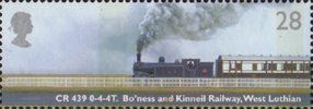 Classic Locomotives 28p Stamp (2004) CR Class 439, Bo'ness and Kinneil Railway, West Lothian