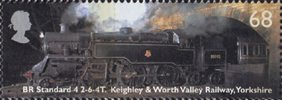 Classic Locomotives 68p Stamp (2004) BR Standard class, Keighley & Worth Valley Railway, Yorkshire