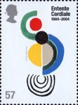 Entente Cordiale 57p Stamp (2004) 'Coccinelle' (Sonia Delaunay)
