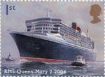 Ocean Liners 1st Stamp (2004) 'RMS Queen Mary 2,2004' (Edward D. Walker)