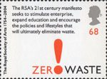 250th Anniversary of the Royal Society of Arts 68p Stamp (2004) 'Zero Waste'