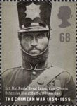 150th Anniversary of the Crimean War 68p Stamp (2004) Sgt. Maj. Poole, Royal Sappers and Miners, Defensive Line, Battle of Inkerman