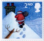 Christmas 2004 2nd Stamp (2004) Father Christmas on Snowy Roof