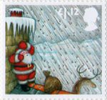 Christmas 2004 £1.12 Stamp (2004) Sheltering from Hailstorm behind Chimney