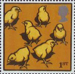 Farm Animals 1st Stamp (2005) Light Sussex Chicks