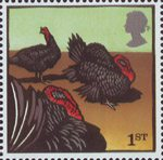 Farm Animals 1st Stamp (2005) Norfolk Black Turkeys