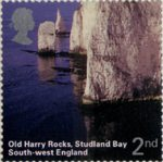 A British Journey : South West England 2nd Stamp (2005) Old Harry Rocks, Studland Bay
