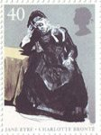 Jane Eyre by Charlotte Bronte 40p Stamp (2005) In the Comfort of Her Bonnet