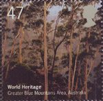 World Heritage Sites 47p Stamp (2005) Greater Blue Mountains Area, Australia