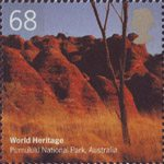 World Heritage Sites 68p Stamp (2005) Purnululu National Park, Australia