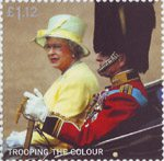 Trooping the Colour £1.12 Stamp (2005) Queen and Duke of Edinburgh in Carriage, 2004