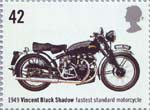 Motorcycles 42p Stamp (2005) Vincent Black Shadow, Fastest Standard Motorcycle (1949)