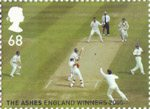England's Ashes Victory 68p Stamp (2005) Second Test, Edgbaston