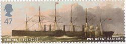 Brunel 47p Stamp (2006) PSS Great Eastern