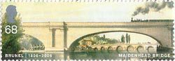 Brunel 68p Stamp (2006) Maidenhead Railway Bridge