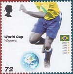 World Cup Winners 72p Stamp (2006) Brazil